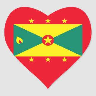 GRENADA HEART STICKER