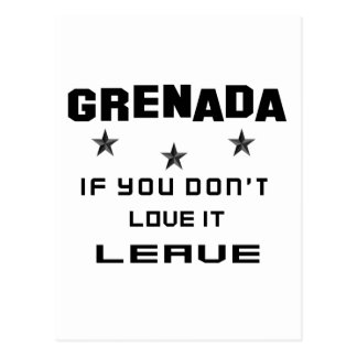 Grenada If you don't love it, Leave Postcard