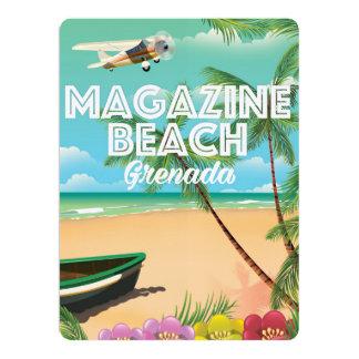 Grenada Magazine Beach Travel Poster 17 Cm X 22 Cm Invitation Card
