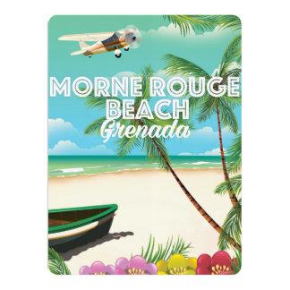 Grenada Morne Rouge Beach Travel Poster 17 Cm X 22 Cm Invitation Card