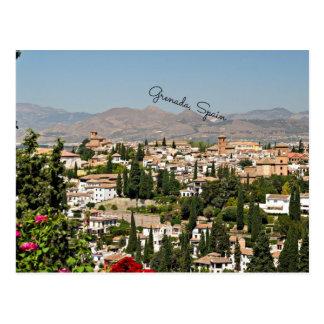 Grenada, Spain cityscape Postcard