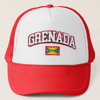 Grenada Vintage Flag Trucker Hat