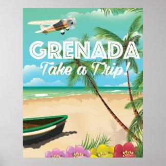 Grenada Vintage Vacation Travel Poster