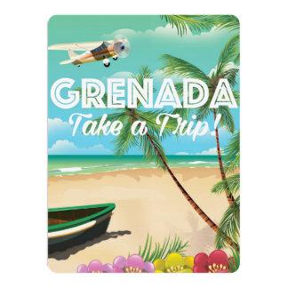 Grenada Vintage Vacation Travel Poster Card