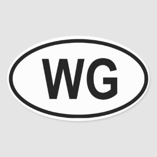 "Grenada ""WG"" Oval Sticker"