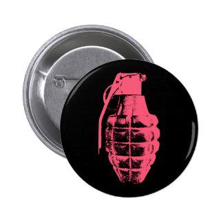 Grenade 6 Cm Round Badge