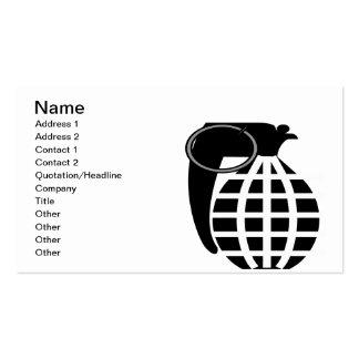 Grenade Business Card Template