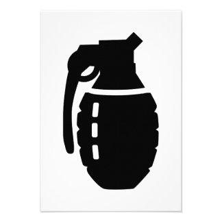 Grenade Invitations