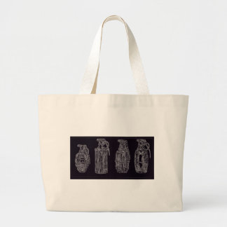 Grenade isolation large tote bag