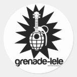 Grenade-lele Round Sticker