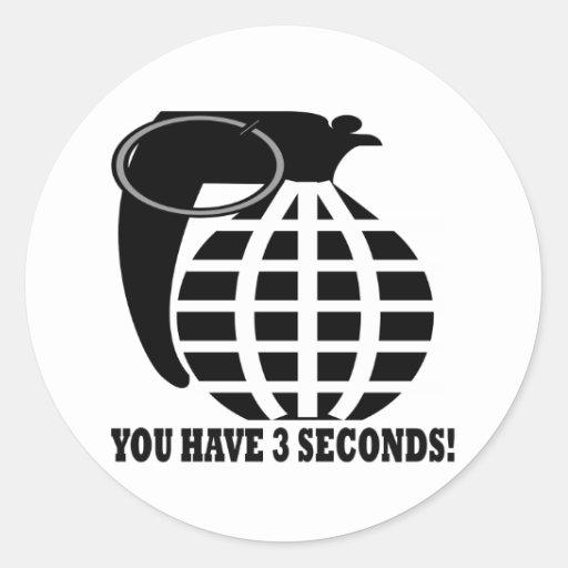 Grenade Round Stickers