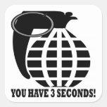 Grenade Square Stickers