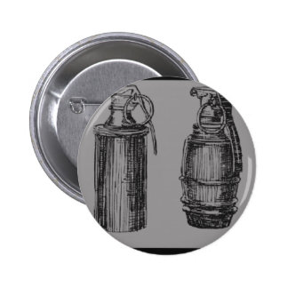 Grenade Stance Pinback Buttons