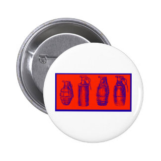 Grenades Red Pinback Button