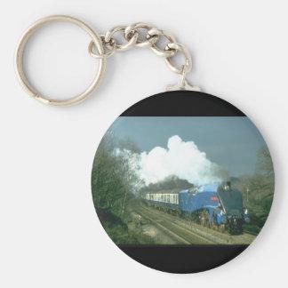 Gresley A4 Sir Nigel Gresley works_Steam Trains Basic Round Button Key Ring