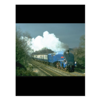 Gresley A4 Sir Nigel Gresley works_Steam Trains Postcard