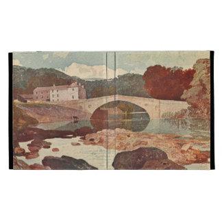 Greta Bridge Pennine Hills England iPad Folio Case