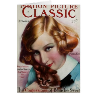 Greta Nissen Vintage 1928 Movie Magazine Card