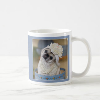 Gretta Rose in Pearls Pug Mug