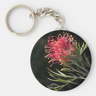 "Grevillea ""Silvia"" Basic Round Button Key Ring"