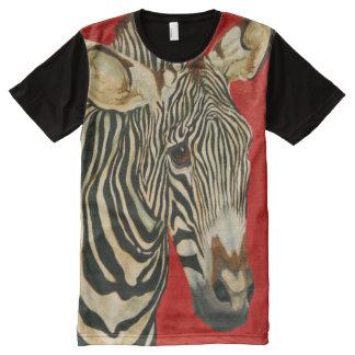 Grevy's Zebra African Wildlife Zoo Animal Art All-Over Print T-Shirt