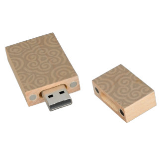 Grey Abstract Pattern Wood USB 2.0 Flash Drive