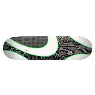 Grey Abstract Snakeskin / Croc Skateboard Deck
