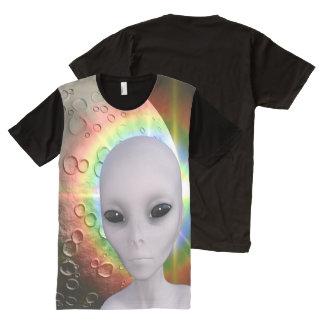 Grey Alien All-Over Print T-Shirt