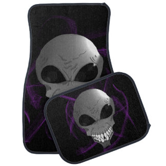 Grey alien car floor mats