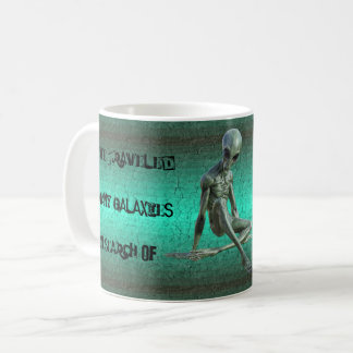 Grey Alien Coffee Lover  Mug