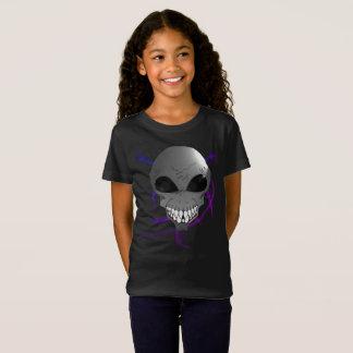 Grey alien Girls' Fine Jersey T-Shirt