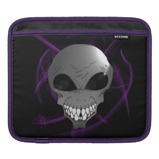 Grey alien iPad or Macbook sleeve