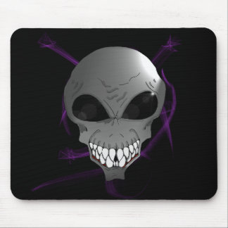 Grey alien Mousepad