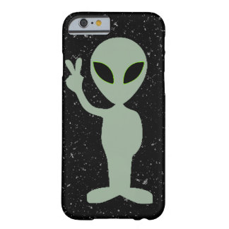 Grey Alien with Black Stars in the Sky background Barely There iPhone 6 Case