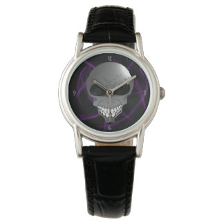 Grey alien woman's wrist watch