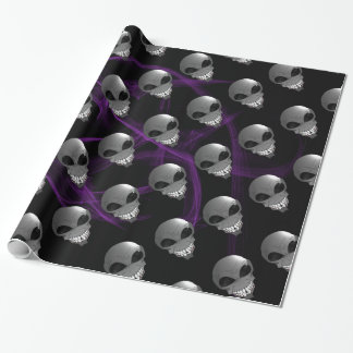 Grey alien Wrapping Paper