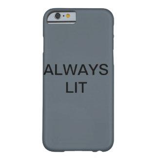 Grey always lit iPhone 6/6s phone case