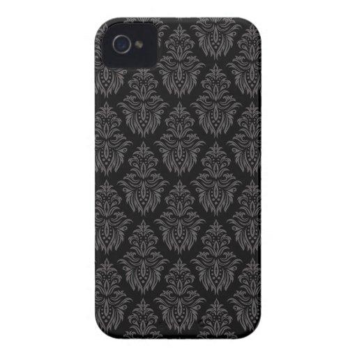 Grey and black damask pattern BlackBerry Bold case