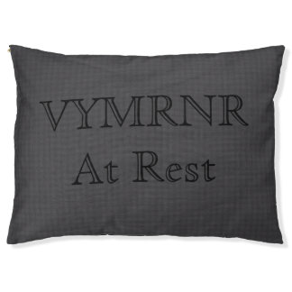 Grey and Black Fiber VYMRNR Pattern Pet Bed