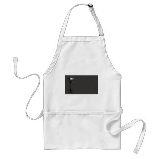 Grey and Black Martini Glass Business Standard Apron