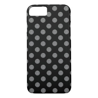 Grey and black polka dots iPhone 7 case
