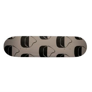 grey and black purse pattern skateboard deck