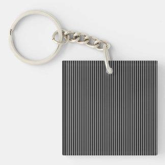 Grey and Black Stripes Key Ring