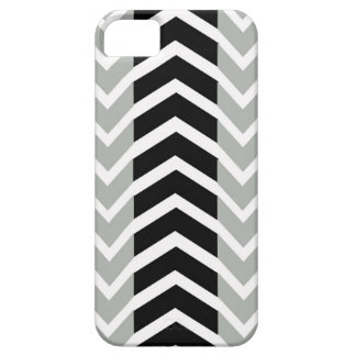 Grey and Black Whale Chevron Barely There iPhone 5 Case