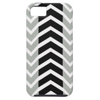 Grey and Black Whale Chevron Case For The iPhone 5