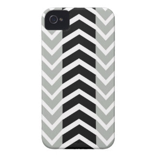 Grey and Black Whale Chevron Case-Mate iPhone 4 Case