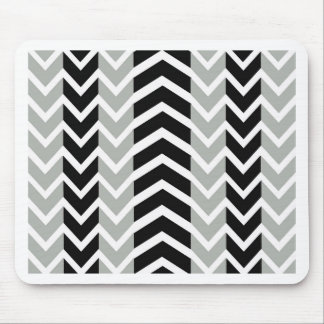 Grey and Black Whale Chevron Mouse Pad