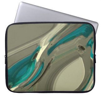 Grey and Blue Abstract Art Laptop Sleeve