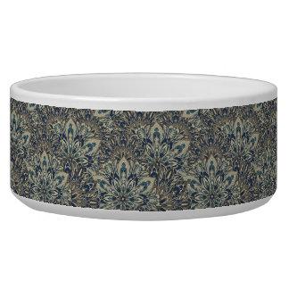 Grey and blue mandala pattern.