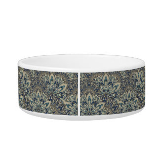 Grey and blue mandala pattern bowl